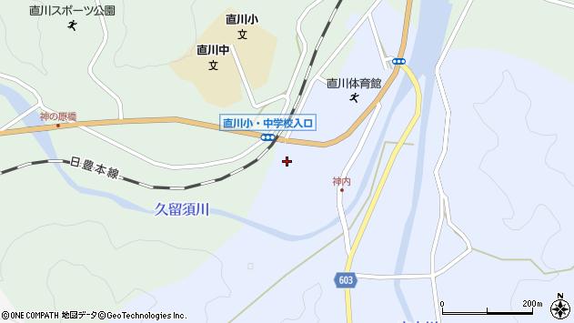 大分県佐伯市直川大字赤木146周辺の地図