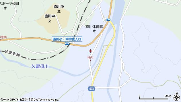 大分県佐伯市直川大字赤木158周辺の地図