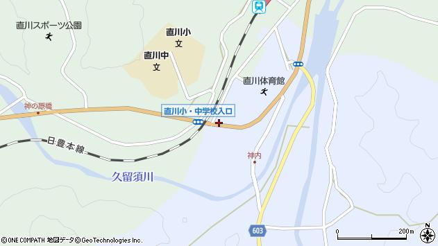 大分県佐伯市直川大字赤木120周辺の地図