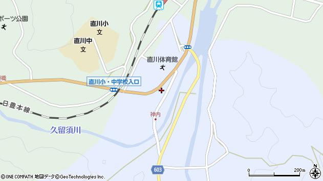 大分県佐伯市直川大字赤木58周辺の地図