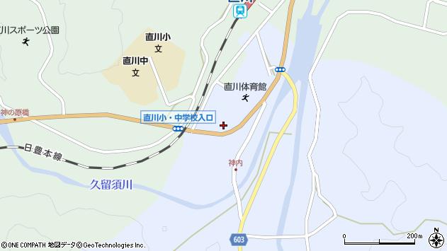 大分県佐伯市直川大字赤木周辺の地図