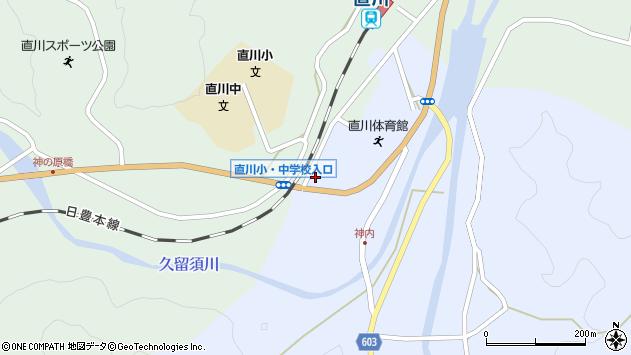 大分県佐伯市直川大字赤木117周辺の地図