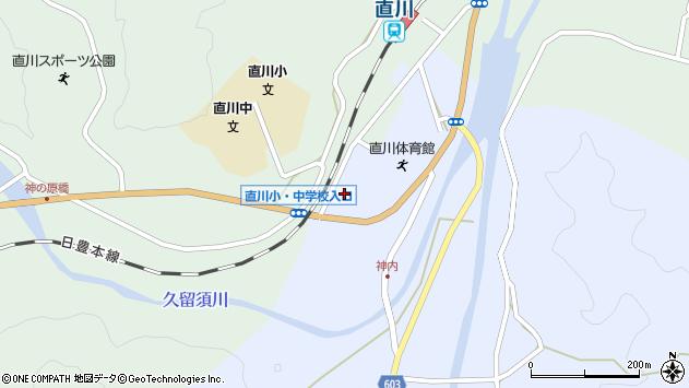 大分県佐伯市直川大字赤木98周辺の地図