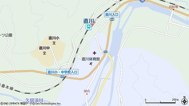 大分県佐伯市直川大字赤木久留須周辺の地図