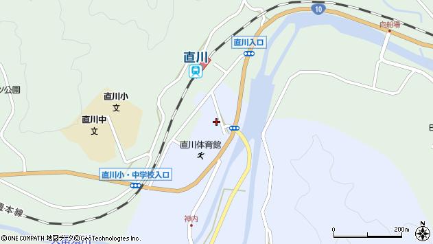 大分県佐伯市直川大字赤木39周辺の地図