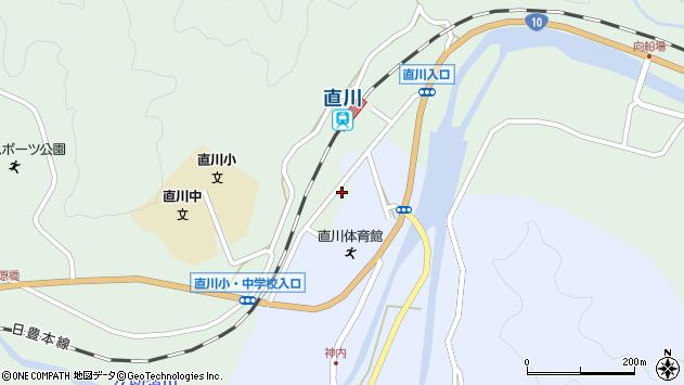 大分県佐伯市直川大字上直見568周辺の地図