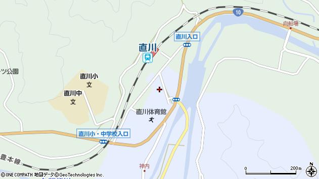 大分県佐伯市直川大字赤木38周辺の地図
