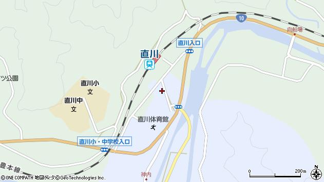 大分県佐伯市直川大字赤木37周辺の地図