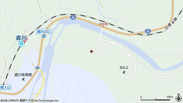 大分県佐伯市直川大字上直見3912周辺の地図