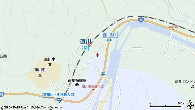 大分県佐伯市直川大字赤木23周辺の地図