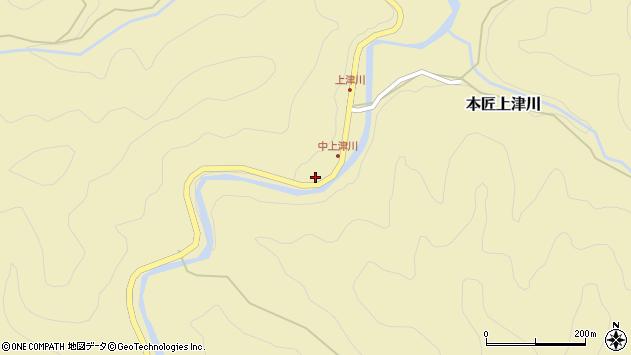 大分県佐伯市本匠大字上津川370周辺の地図