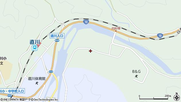 大分県佐伯市直川大字上直見3925周辺の地図