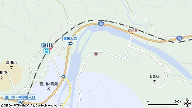 大分県佐伯市直川大字上直見3930周辺の地図