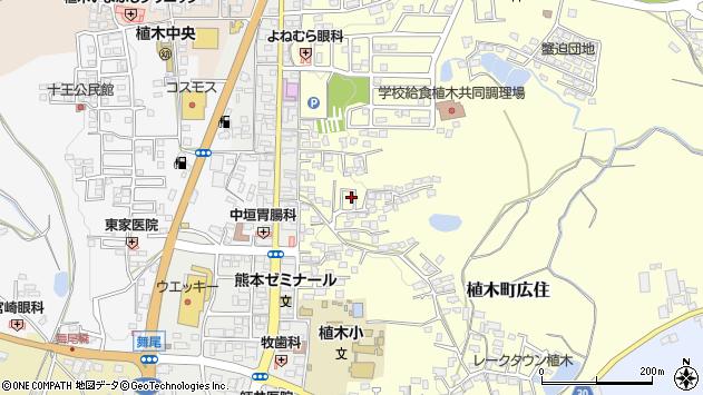 熊本県熊本市北区植木町広住周辺の地図