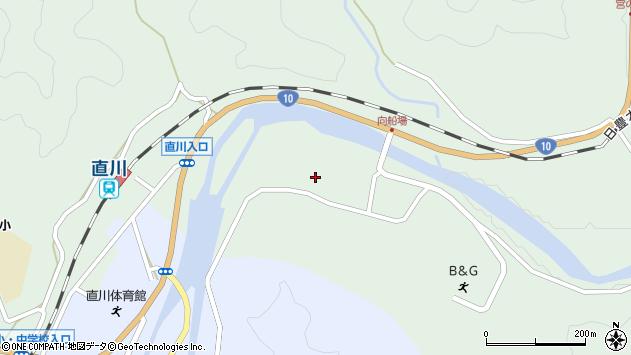 大分県佐伯市直川大字上直見3873周辺の地図