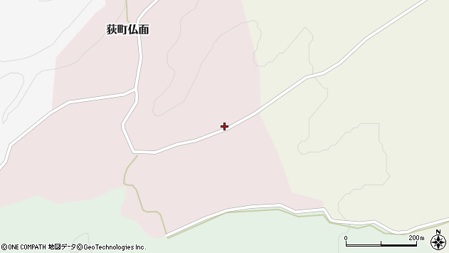 大分県竹田市荻町仏面887周辺の地図