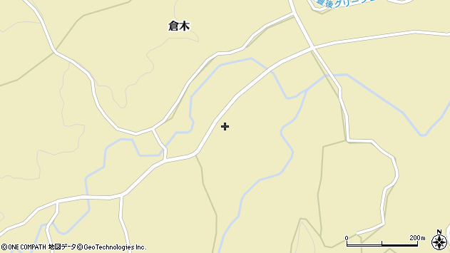大分県竹田市倉木1518周辺の地図