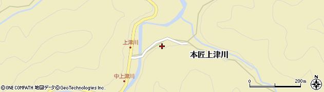 大分県佐伯市本匠大字上津川1071周辺の地図