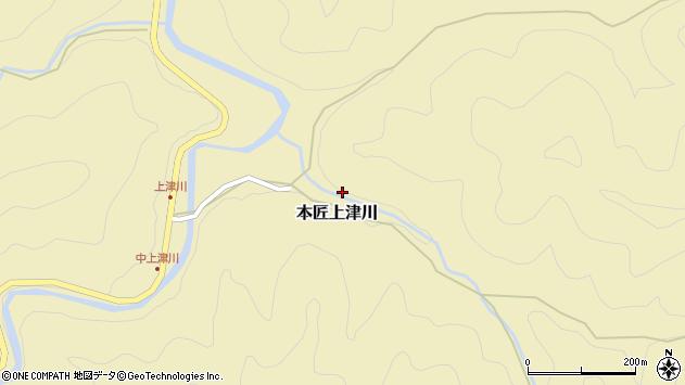 大分県佐伯市本匠大字上津川1246周辺の地図