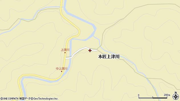 大分県佐伯市本匠大字上津川1106周辺の地図
