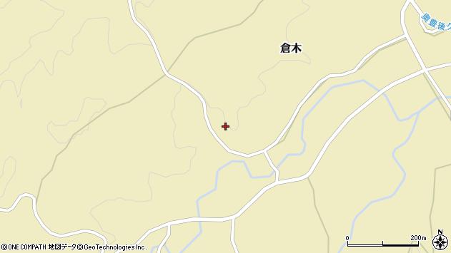 大分県竹田市倉木瀬口周辺の地図