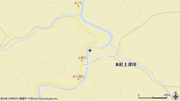 大分県佐伯市本匠大字上津川1060周辺の地図