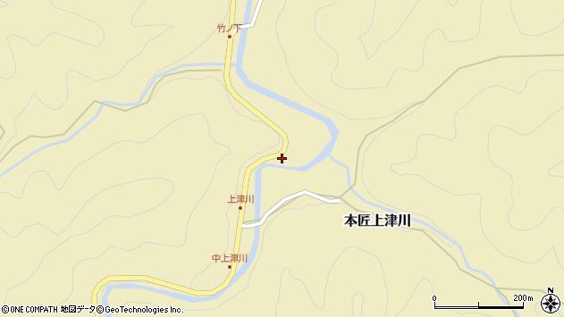大分県佐伯市本匠大字上津川203周辺の地図