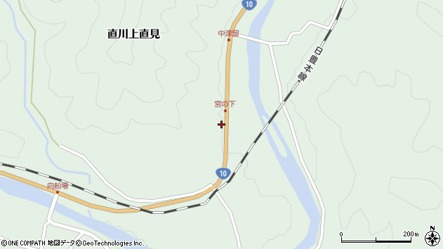 大分県佐伯市直川大字上直見1553周辺の地図