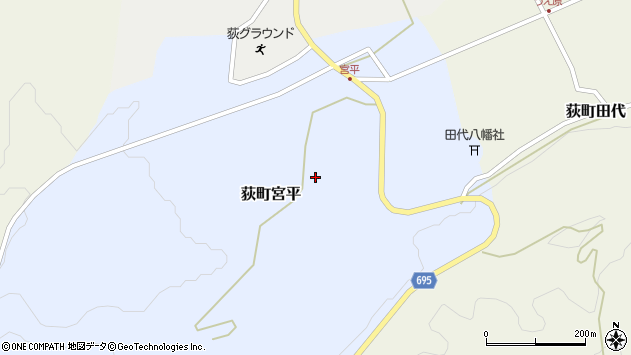 大分県竹田市荻町宮平3622周辺の地図