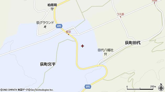 大分県竹田市荻町宮平3721周辺の地図
