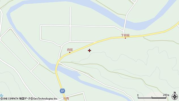 大分県佐伯市堅田府坂区周辺の地図