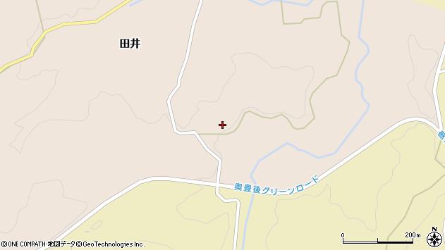 大分県竹田市田井1105周辺の地図
