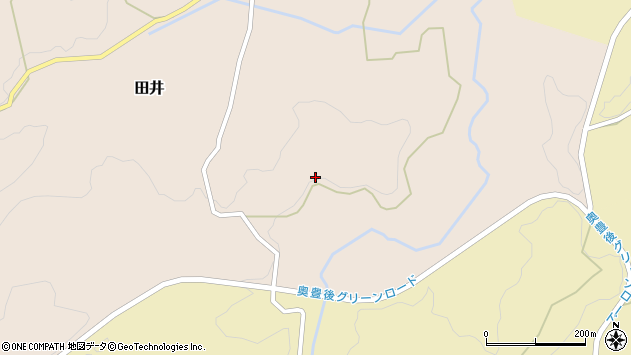 大分県竹田市田井宮園周辺の地図