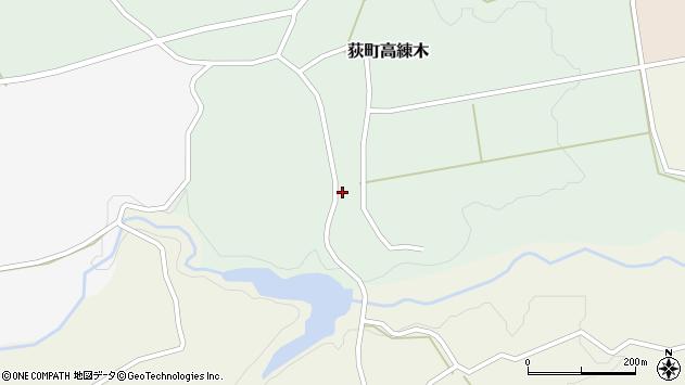 大分県竹田市荻町高練木2209周辺の地図