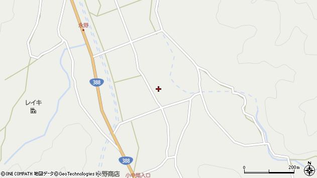 大分県佐伯市木立中野河内区小中尾周辺の地図