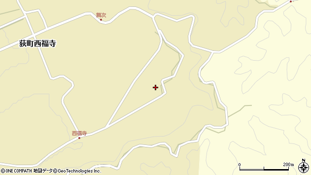 大分県竹田市荻町西福寺舞次周辺の地図