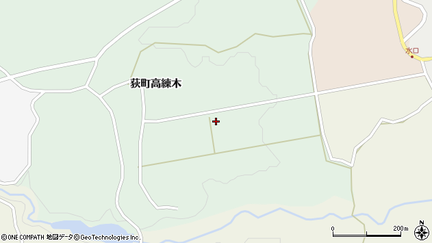 大分県竹田市荻町高練木2272周辺の地図