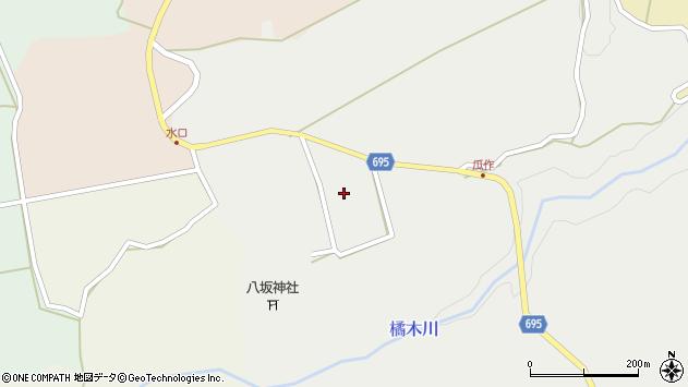 大分県竹田市荻町瓜作周辺の地図