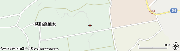 大分県竹田市荻町高練木2261周辺の地図