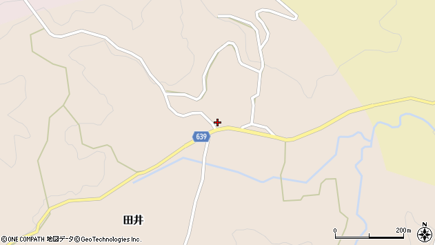大分県竹田市田井110周辺の地図