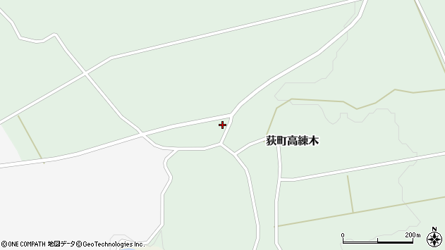 大分県竹田市荻町高練木2117周辺の地図