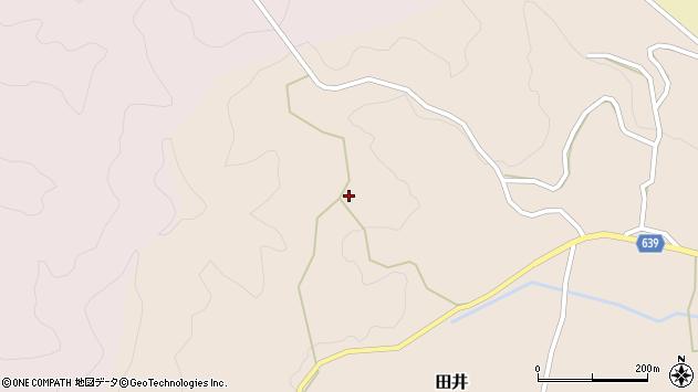 大分県竹田市田井871周辺の地図