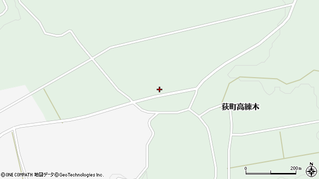 大分県竹田市荻町高練木日向石周辺の地図