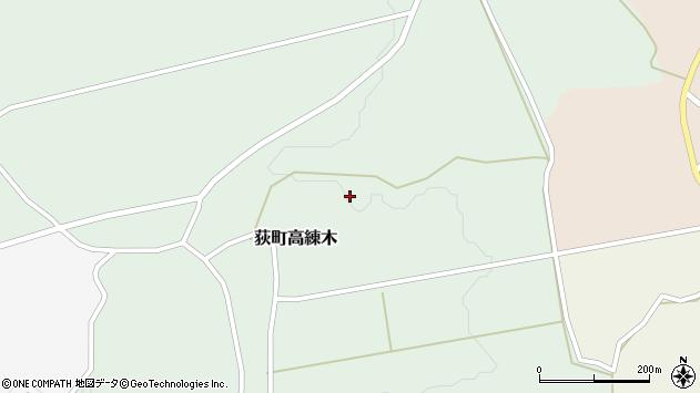 大分県竹田市荻町高練木川宇田周辺の地図