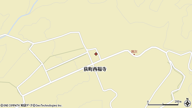 大分県竹田市荻町西福寺5726周辺の地図