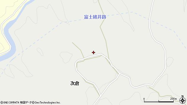 大分県竹田市次倉724周辺の地図