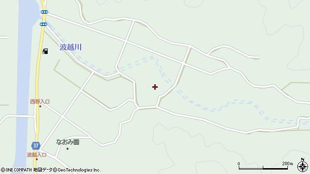 大分県佐伯市堅田波越区周辺の地図