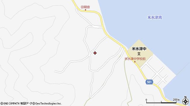 大分県佐伯市米水津大字浦代浦1247周辺の地図