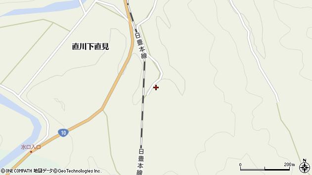 大分県佐伯市直川大字下直見4128周辺の地図