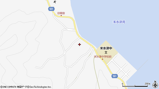 大分県佐伯市米水津大字浦代浦1477周辺の地図